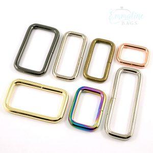 Rectangular Rings Bag Hardware