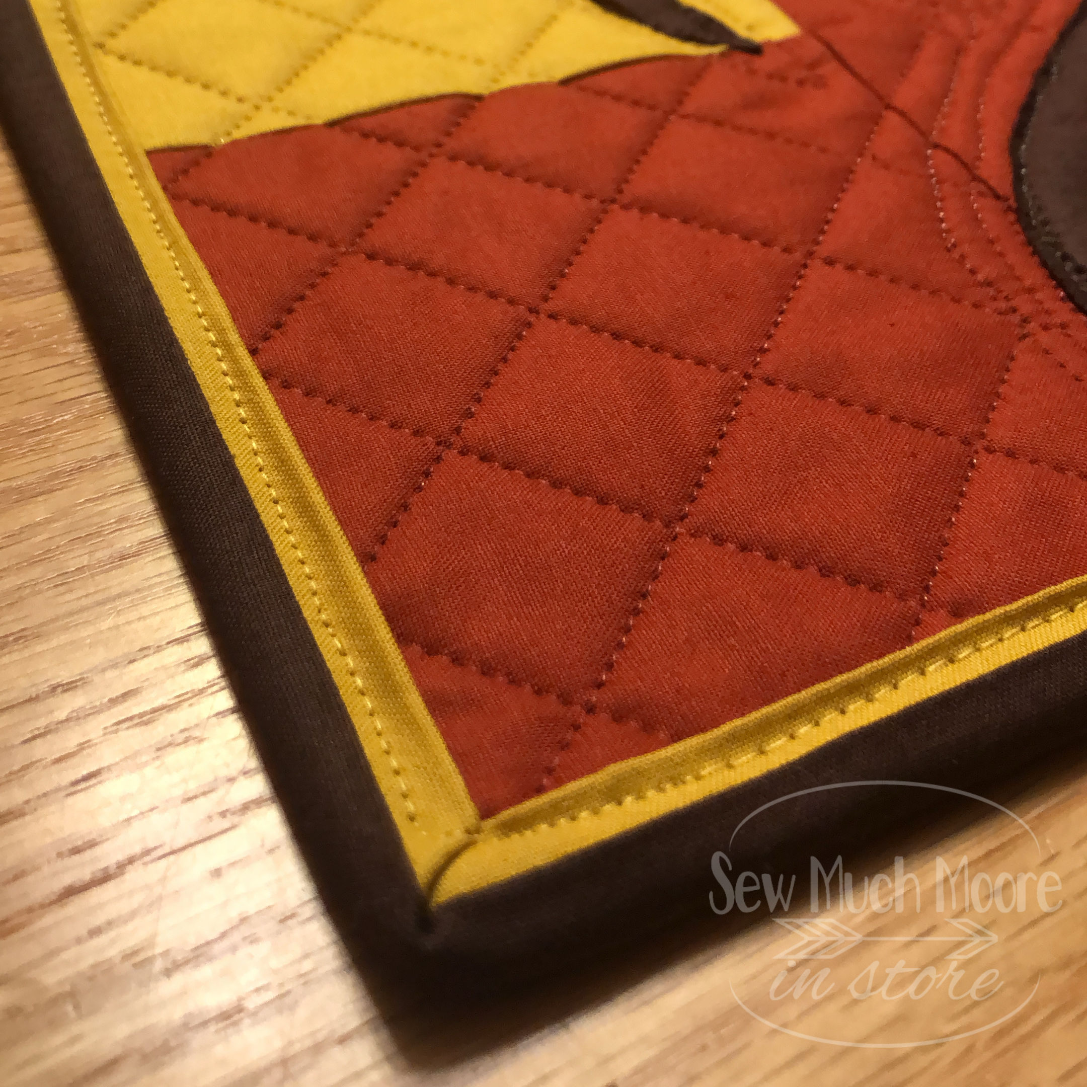 This is made from FABRIC!! Let me show some of the details and also some inspiration so you might want to make a Bella Strega Wall Quilt too! #Easy #Patterns #Tutorial #Modern #project #Fabric #Patchwork #DIY #Sampler #Ideas #Basic #Quilt #WallHanging #Quilting #Quilter #SewMuchMoore #SewMuchMooreInStore