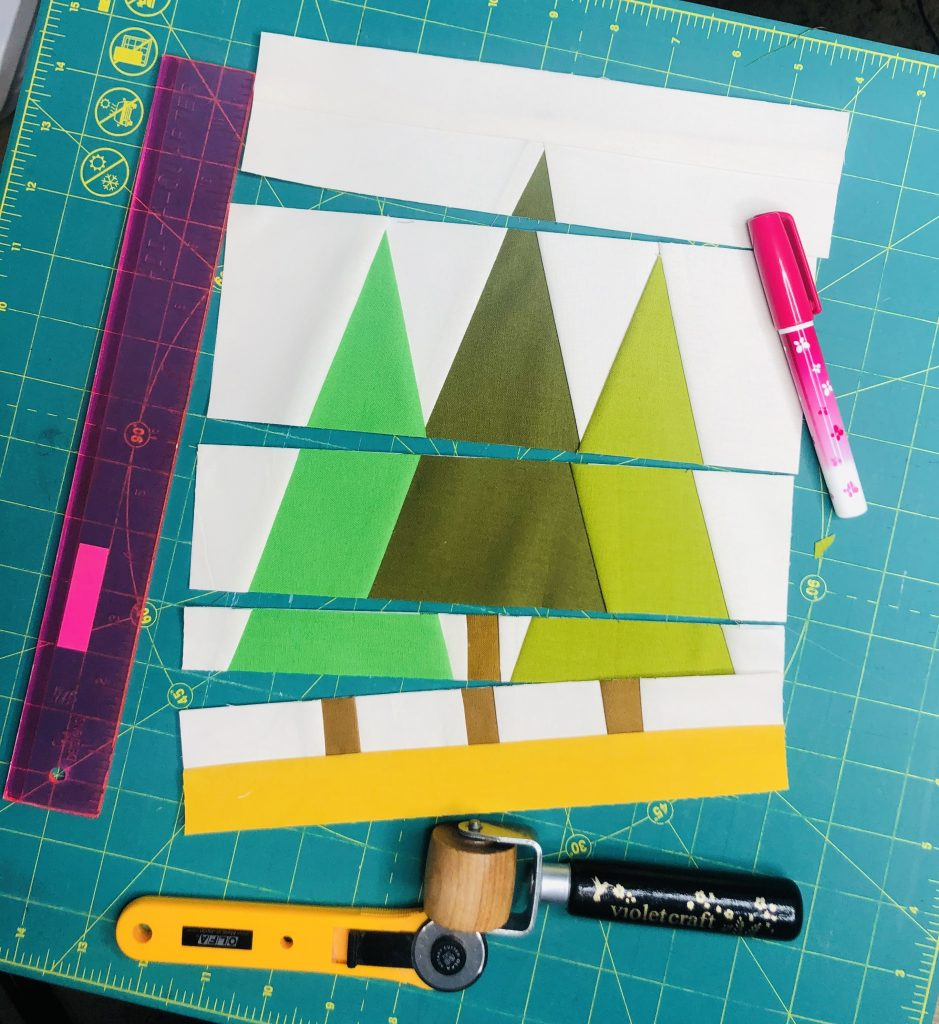 The Pinetree Forest Quilt Block is a versatile foundation paper pieced pattern for a variety of projects. It's the perfect block for the confident beginner! #Patterns #OfTheMonth #Modern #ForBeginners #Scrappy #project #Fabric #FPP #DIY #Sampler #Ideas #Basic #Quilt #QuiltBlock #BOM #Quilting #Quilter #FoundationPaperPiece #SewMuchMoore #SewMuchMooreInStore