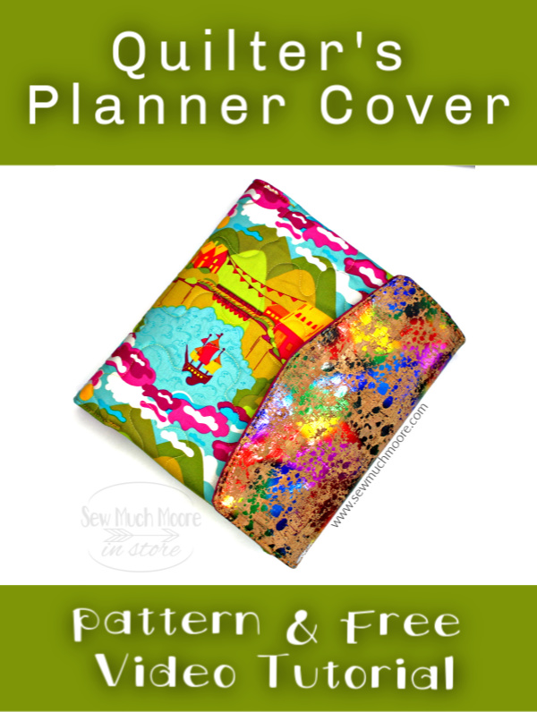 Make your own Quilter's Planner! This pattern has a zippered pocket and a Notebook sleeve! Choose your own closure too! Watch my free video tutorial and sew your own Planner Cover #PlannerCover #QuiltersPlannerCover #SewingTutorial #DIYPlannerCover #SewingPattern #VideoTutorial