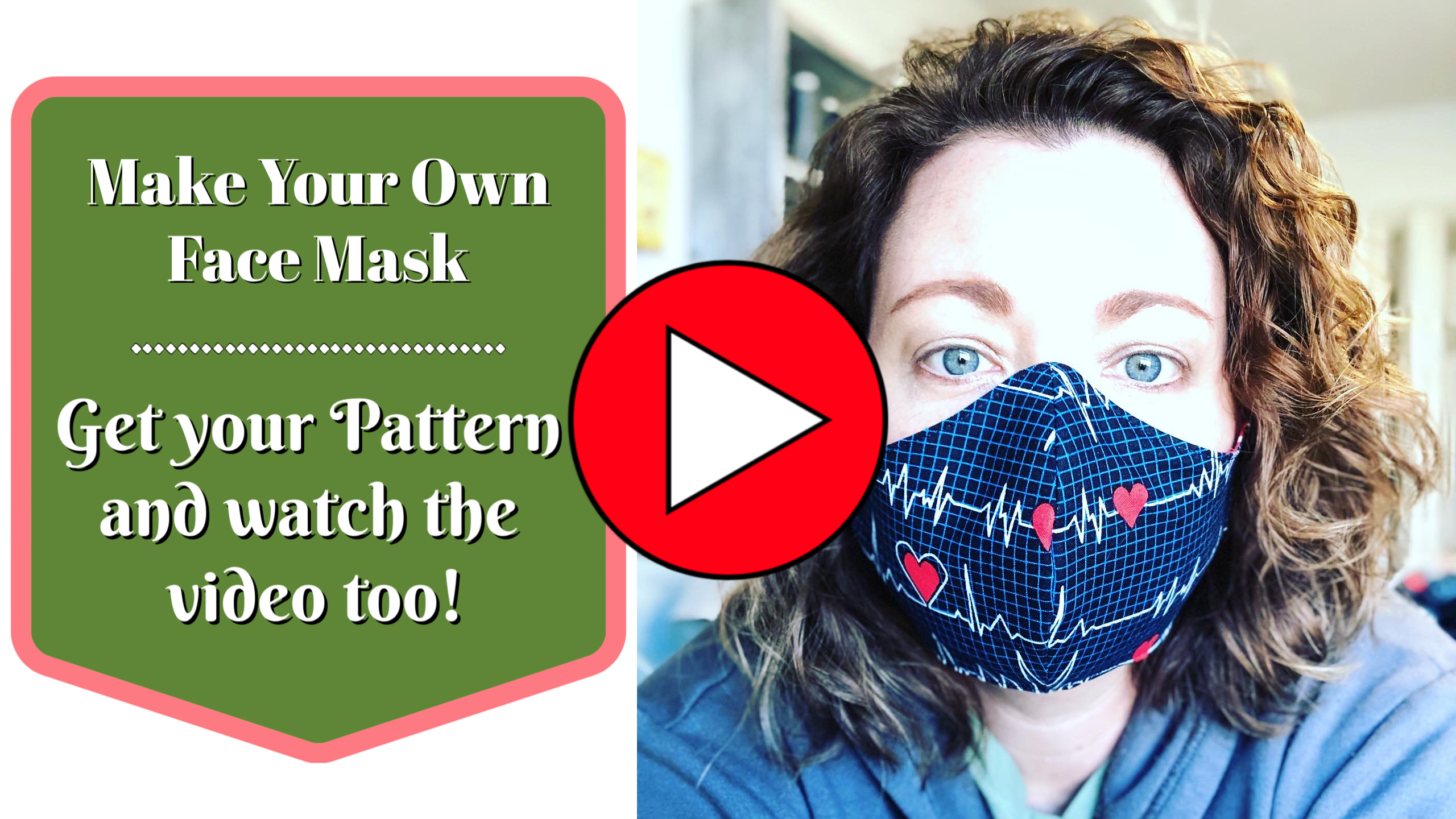 DIY Handmade Face Mask Pattern in four sizes