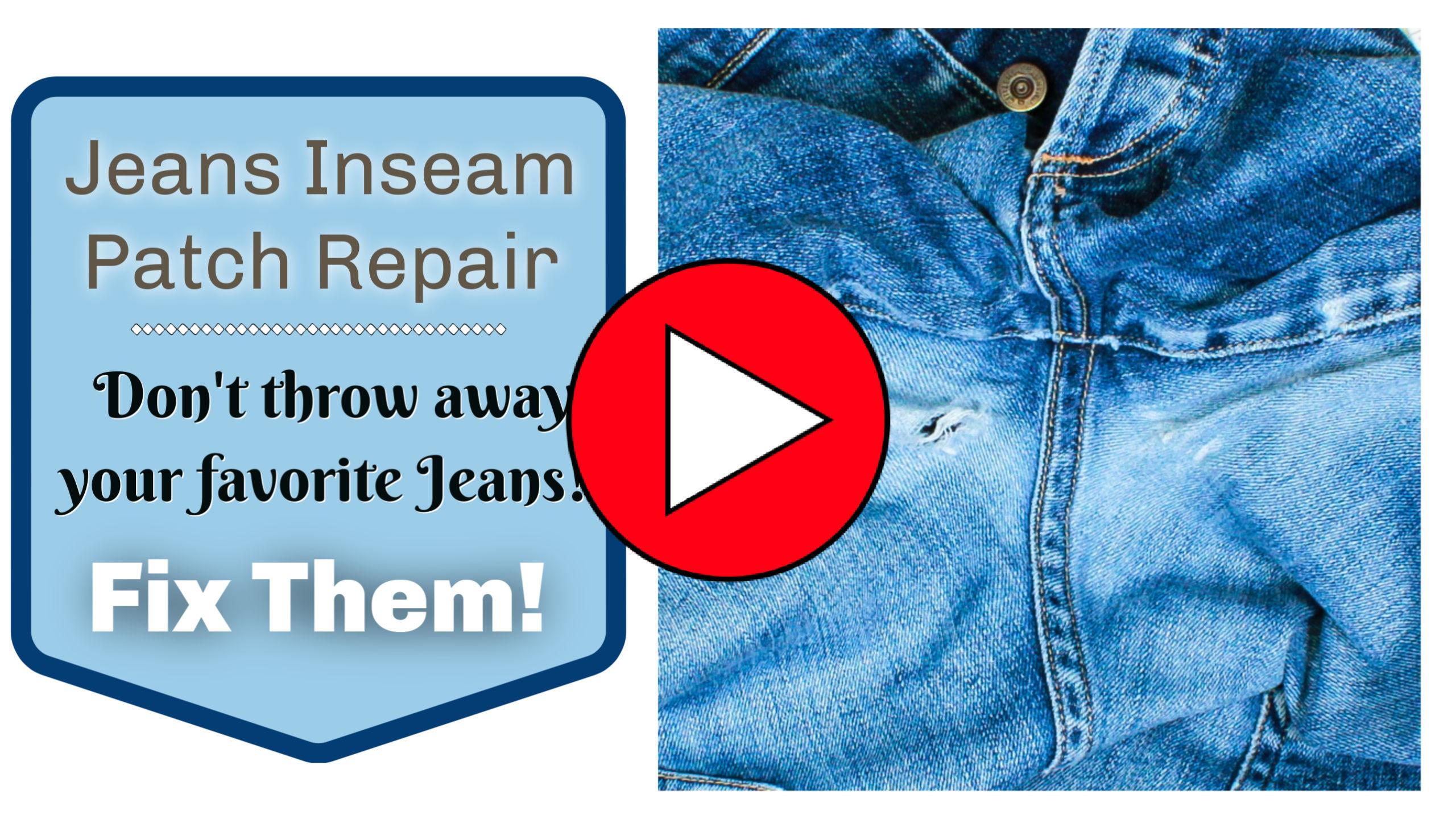 Diy Jeans Inseam Patch Repair Sew Much Moore
