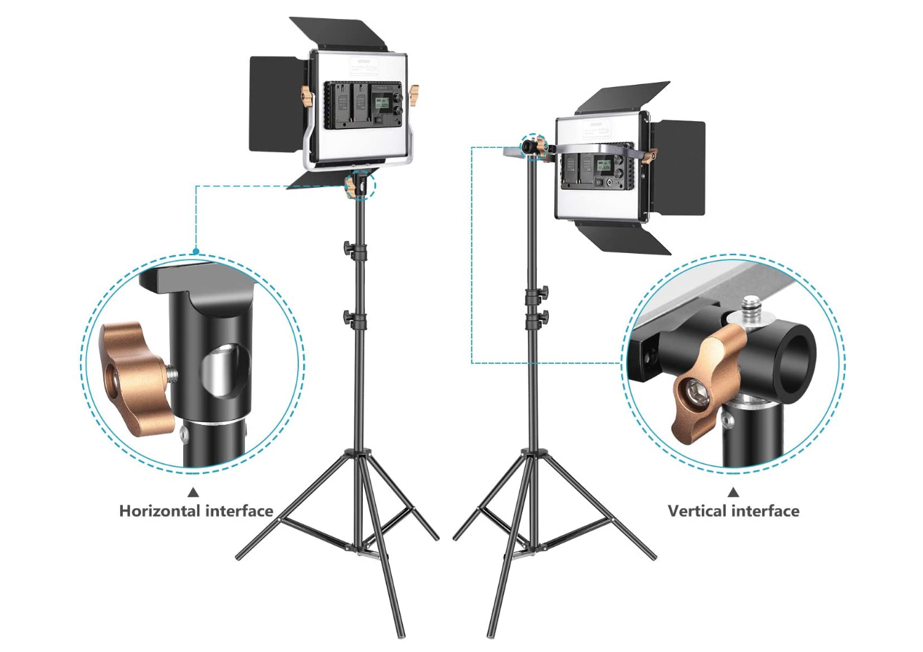 Light Kit for great photographs and video production