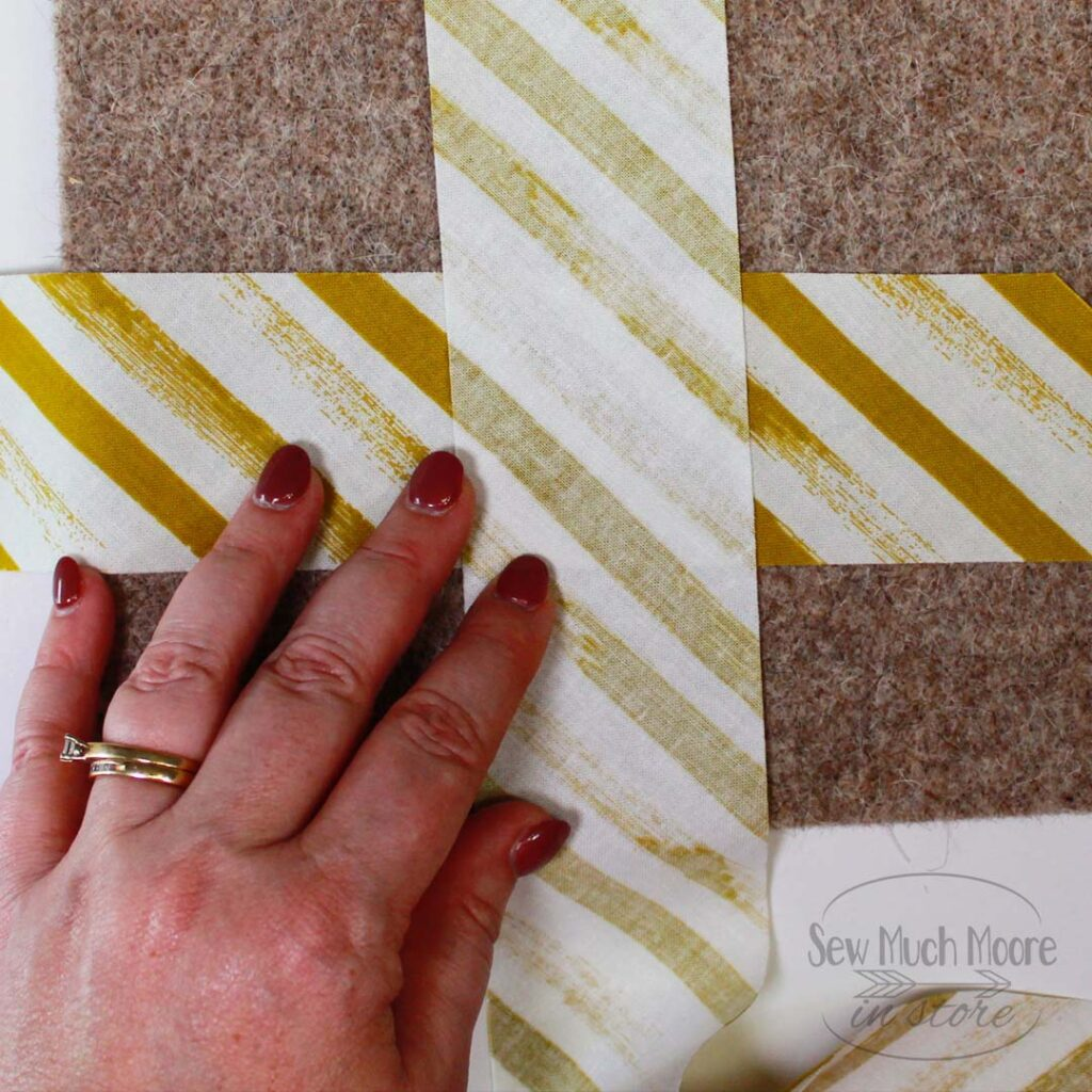 Learn how to match binding stripes and watch the video tutorial too!