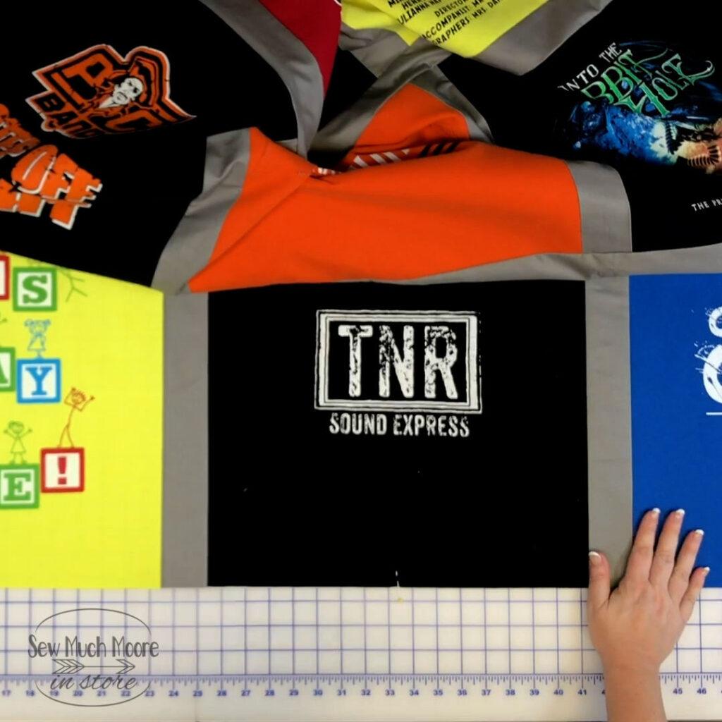 Assemble your T-Shirt Quilt